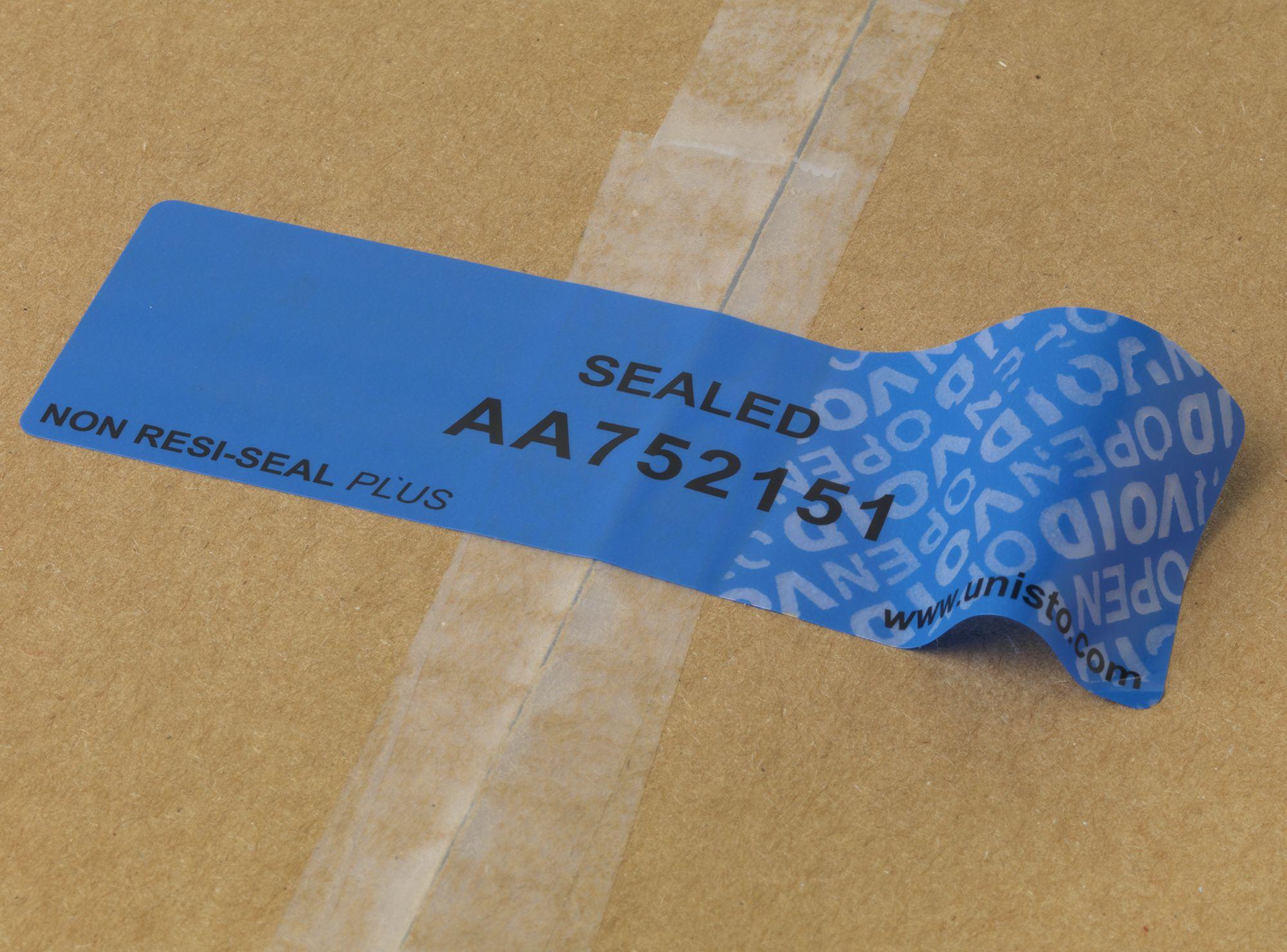 Etichetta di sicurezza Unisto Non Resi Seal Plus
